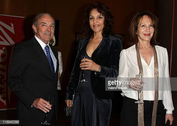 From L to R MPA president Bob Pisano actresses Farida Rahouadj and Nathalie Baye attends the 15th Annual City Of Lights City Of Angels Film Festival...