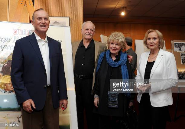 From L to R Otto Nemenz Bob Bondurant John Stephens Evans Evans Frankenheimer and Eva Marie Saint attend The Academy Of Motion Picture Arts And...