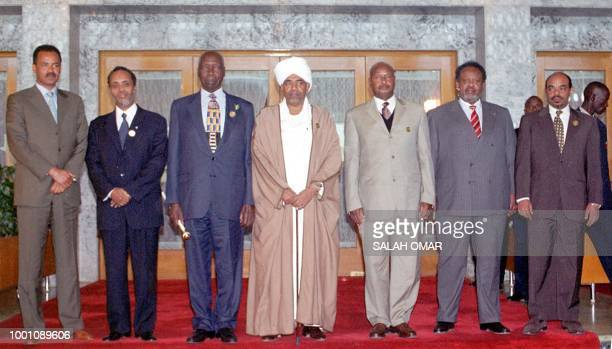 The Presidents of Eritrea Isaias Afwerki Somalia Abdulkassim Salat Hassan Kenya Daniel arap Moi Sudan Omar alBeshir Uganda Yoweri Museveni Djibouti...