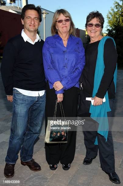 """From L to R: Tom Jacobson, Janet Hirshenson and Jane Jenkins attend The Academy Of Motion Picture Arts And Sciences """"Oscars Outdoors"""" Screening Of..."""