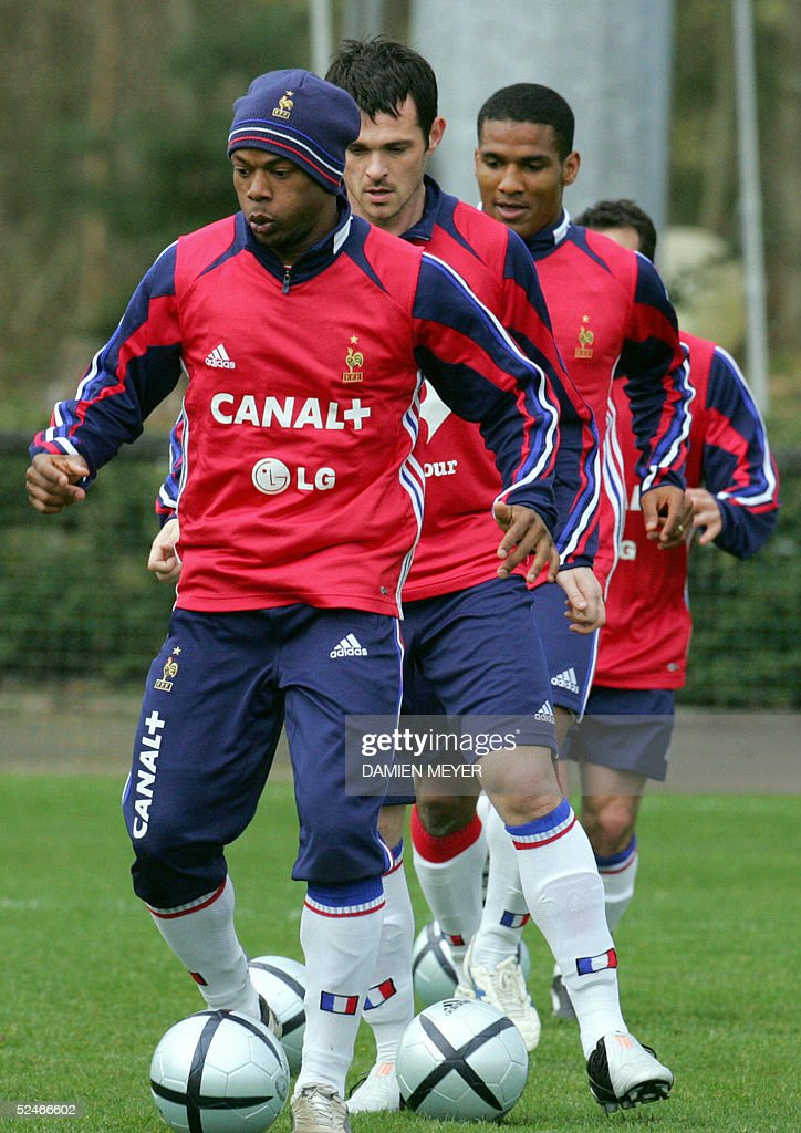French National Soccer Team Trains Ahead Of Match With Zwitzerland