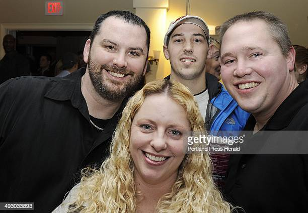 From left Aaron and Courtney Joyal of Cape Elizabeth Scott Nevers of Westbrook and Steve Stults of Portland seen at the Maine Restaurant Week...