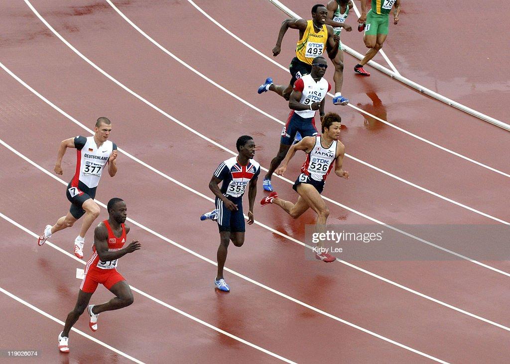 2005 IAAF World Championships in Athletics - Men's 200m - Quarterfinal - August 10, 2005 : News Photo