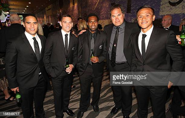 From left Aaron Smith Aaron Cruden Tomasi Cama Chiefs coach Dave Rennie and Tim NanaiWilliams during the 2012 Steinlager Rugby Awards at SkyCity...