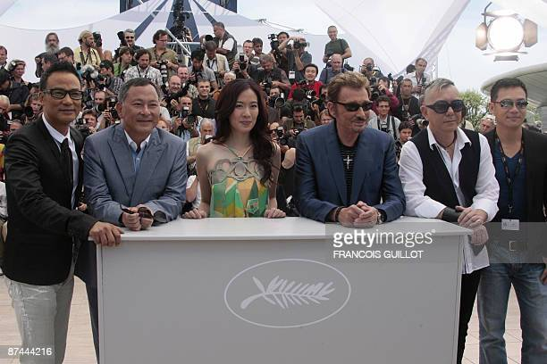 Actor Simon Yam of HonkKong director Johnnie To actress Michelle Ye French singer and actor Johnny Hallyday Anthony Wong and SiuFai Cheung of Hong...