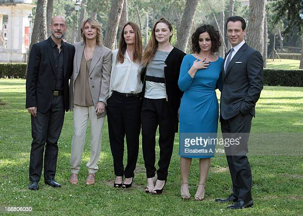 From left actors Gian Marco Tognazzi Margherita Buy director Maria Sole Tognazzi actors Fabrizia Sacchi Alessia Barela and Stefano Accorsi attends...