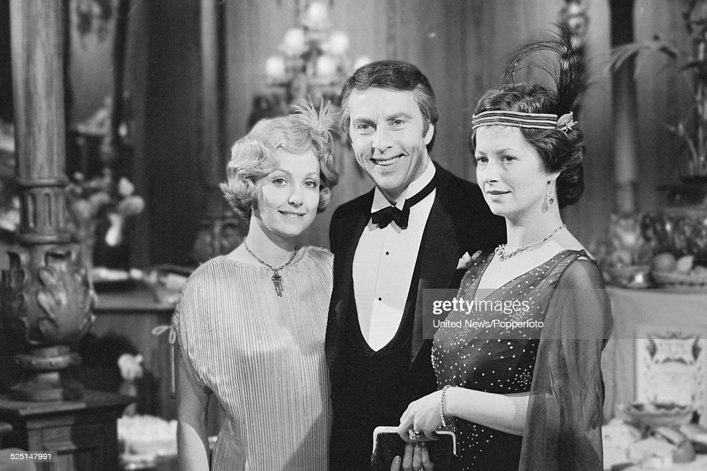 Actors Susan Skipper Anthony Valentine And Celia Gregory Pictured Together  On The Set Of The Television