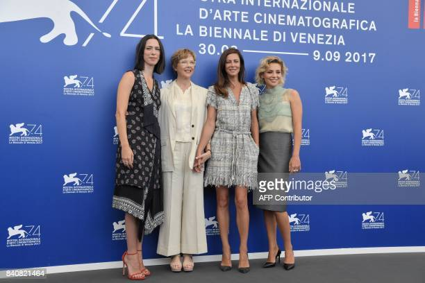 Actress Rebecca Hall, actress and president of the jury Annette Bening, French actress Anna Mouglalis and Italian actress Jasmine Trinca pose during...