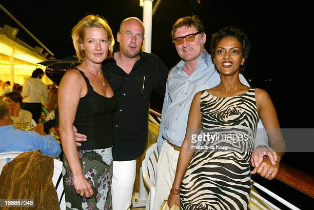 Actress Suzanne From Borsody and Jens Schniedenharn and Carlo Rola And Dennenesch Zoudé At The Edge Of Grand Prix Of Monaco in Monte Carlo on 310503