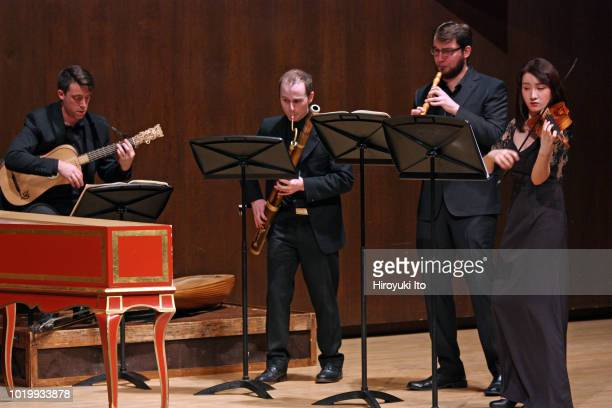 From left Adam Cockerham Joe Jones Andrew Blanke and Ruiqi Ren play the music of Francois Couperin in the Juilliard School's Historical Performance...