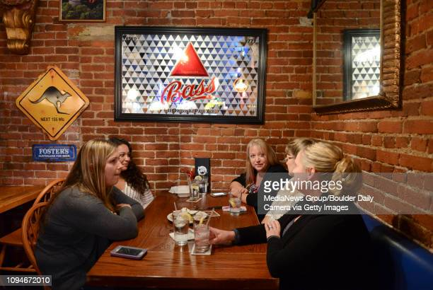 Adrienne Hedrick Elizabeth Gonzales Sherry Wrage Tammy Daniels and Andrea Johnson finish lunch at Mike O'Shays 512 Main St Wednesday O'Shays will be...