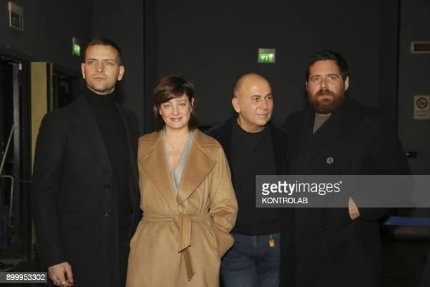 From left Alessandro Borghi Anna Bonaiuto Ferzan Ozpetek and Biagio Forestieri at the premier of 'Napoli Velata' directed by Ferzan Ozpetek main...