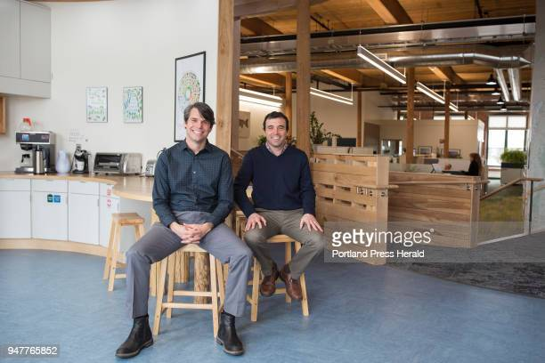 From left Alex Mas the associate state director and director of conservation and Tom Abello the director of external affairs pose for a photo in the...