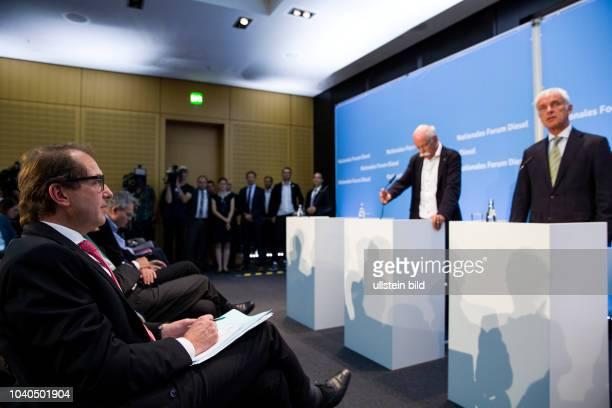 Alexander Dobrindt Federal Minister of Transport and Digital Infrastructure Dieter Zetsche Chief Executive Officer of Daimler Matthias Mueller CEO of...