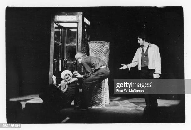 From left American actors John Cazale Matthew Cowles and Al Pacino appear in the play 'The Indian Wants the Bronx' at the Astor Place Theater New...