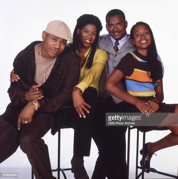 American actors LL Cool J Kim Wayans Alfonso Ribeiro and Maia Campbell of the TV comedy series 'In the House' 1997
