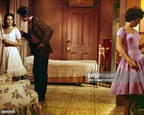 From left American actors Natalie Wood George Chakiris and Puerto Ricanborn Rita Moreno in a scene from 'West Side Story' 1961