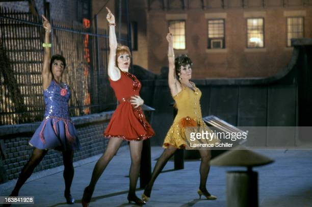 From left American actresses Paula Kelly Shirley MacLaine and Chita Rivera dance in a scene from the film 'Sweet Charity' at Universal Studios Los...