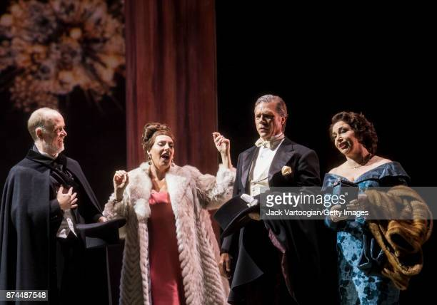From left American bass Kevin Burdett South African soprano Amanda Echalaz American baritone Rod Gilfry and English mezzosoprano Christine Rice...