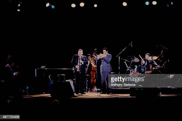 From left American jazz musicians McCoy Tyner on piano Jackie McLean on saxophone Cecil McBee on bass Woody Shaw on trumpet and Jack DeJohnette on...