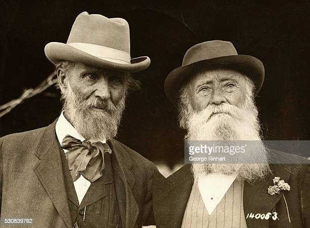American naturalists John Muir and John Burroughs on the occasion of Mr Burroughs 75th birthday April 3 1912 at the home of his friend Dr Clara...
