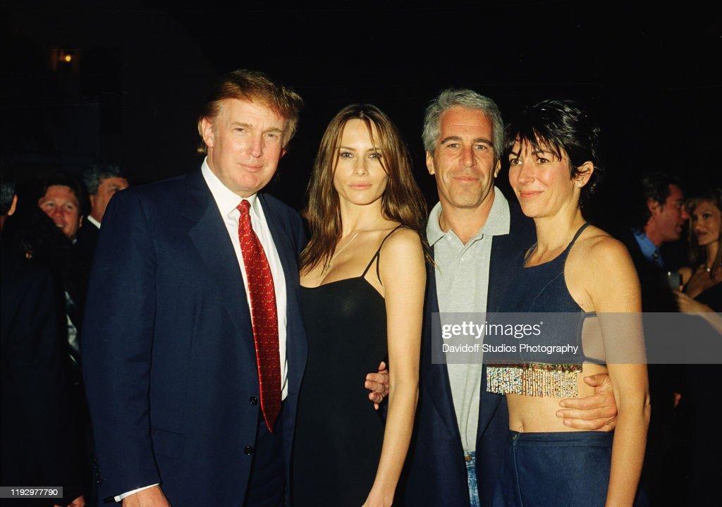 Trump, Knauss, Epstein, & Maxwell At Mar-A-Lago : News Photo