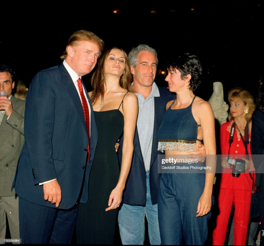 Trump, Knauss, Epstein, & Maxwell At Mar-A-Lago : News Photo