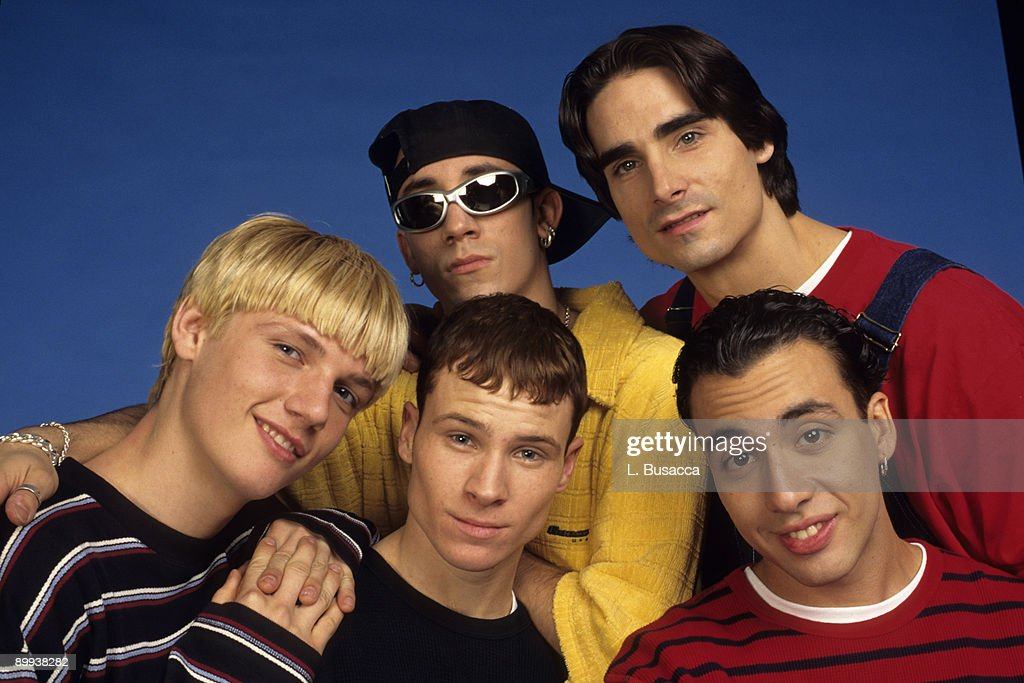 Nick Carter, Brian Littrell, A.J McLean, Kevin Richardson and Howie Dorough of the Backstreet Boys attend a 1997 photo shoot in New York.