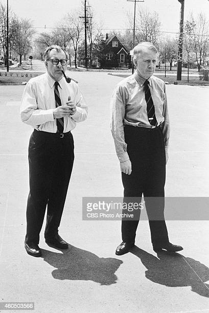 From left architect Eero Saarinen and Dr Frank Stanton president of CBS Image dated April 1 1961