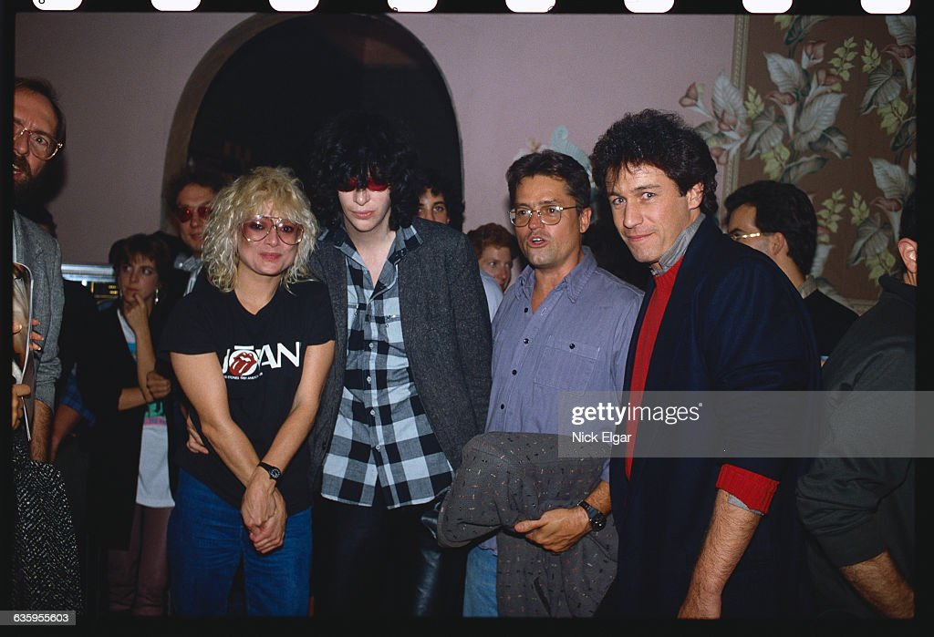 Nina Blackwood, Joey Ramone, and Jonathan Demme : News Photo