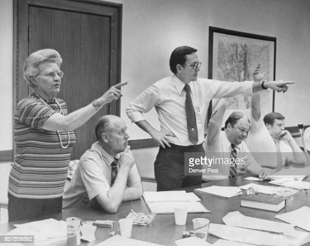 From left are Reps Betty Ann Dittemore Carl Gustafson Frank Traylor Ron Strahle and Cliff Dodge Credit Denver Post
