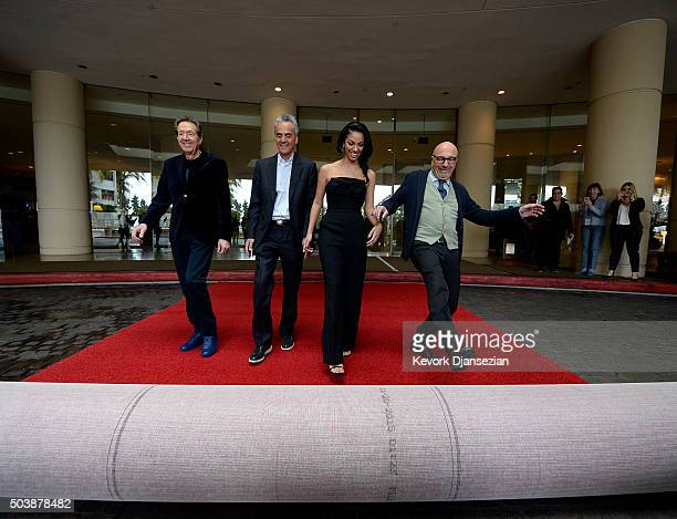 From left Barry Adelman executive vice president of television for Dick Clark productions Allen Shapiro CEO of dick clark productions and Executive...