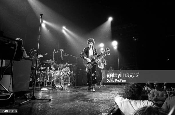 GARDEN Photo of LED ZEPPELIN and Robert PLANT and Jimmy PAGE and John Paul JONES and John BONHAM Group performing on stage during filming for 'The...
