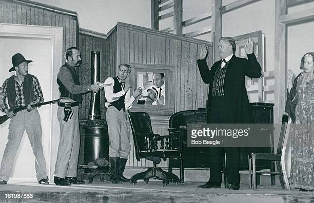 FEB 18 1959 FEB 22 1959 From left Betty Mumey Don Heath Wallace Lundquist James Hartley Kenneth Watson Vincent Haberthier Jack Healy and Mary Jane...