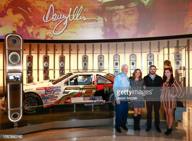 Bobby Allison Liz Allison Robbie Allison and Krista Allison are pictured in front of 2019 NASCAR Hall of Fame inductee's Davey Allison's car at the...