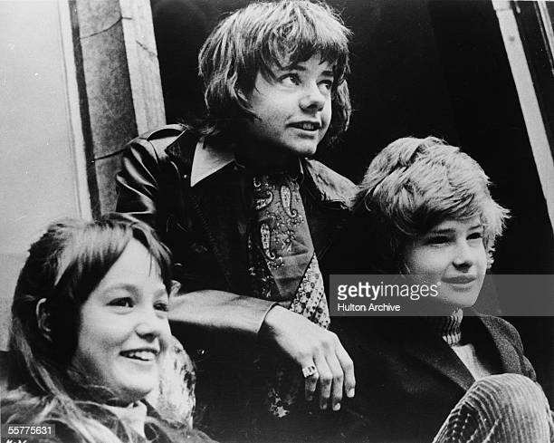 British actors Tracy Hyde Jack Wild and Mark Lester in a still from the film 'Melody' directed by Waris Hussein 1971
