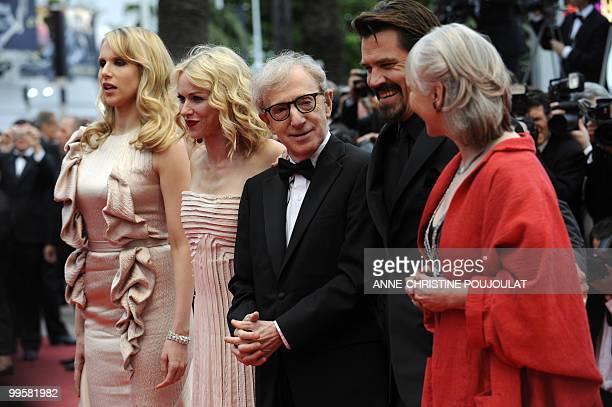 British actress Lucy Punch Britishborn Australian actress Naomi Watts US director Woody Allen US actor Josh Brolin and British actress Gemma Jones...