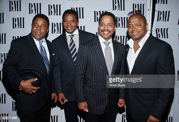 From left Brothers Tito Jackie Marlon and Randy Jackson arrive at the 8th Annual BMI Urban Awards at the Wishire Theatre on September 4 2008 in Los...