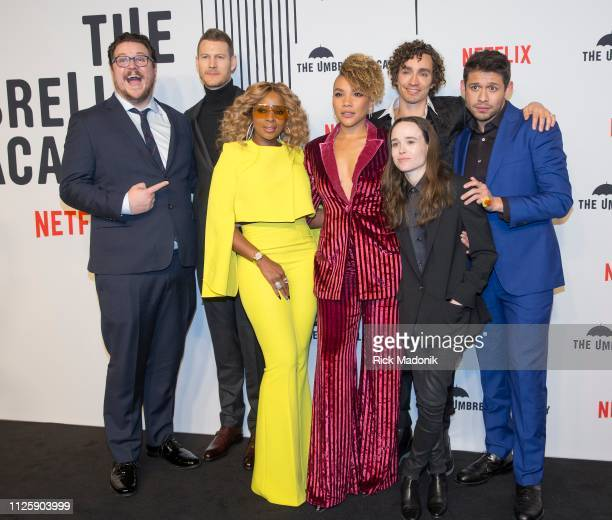 From left Cameron Britton Tom Hopper Mary J Blige Emmy RaverLampman Robert Sheehan Ellen Page and David Castaneda Bell TIFF Lightbox hosted a...
