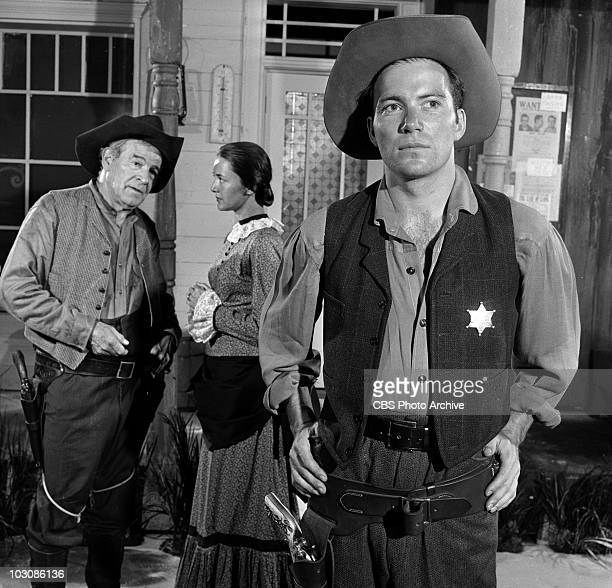 Cameron Prud'homme Joanne Linville and William Shatner in Old Marshals Never Die Image dated July 23 1958