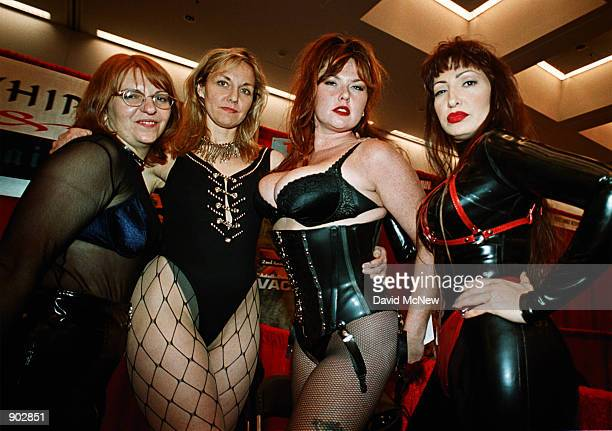 From left Candy Cindy Lily and Mistress Prudence spread the word about their services with Lady Laura's Dominion a femaleowned company offering...