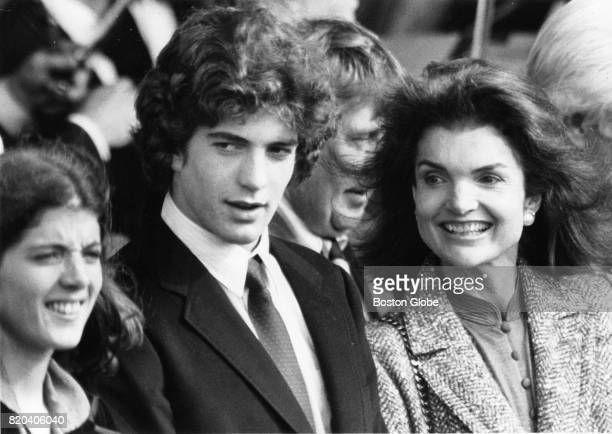 From left Caroline John Kennedy Jr and Jackie Kennedy Onassis during the John F Kennedy Presidential Library and Museum in Boston Oct 20 1979