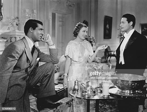 Cary Grant Irene Dunne and Alexander D'Arcy star in Columbia Picture's 1937 film The Awful Truth