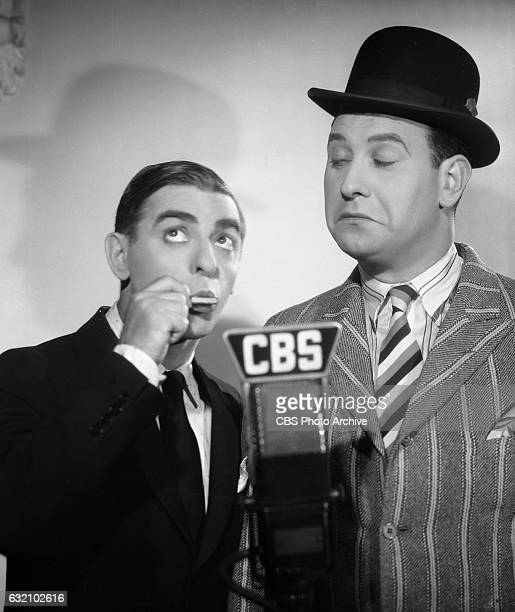 From left CBS Radio star Eddie Cantor and Harry Einstein for The Eddie Cantor Show Hollywood CA Image dated September 1 1935
