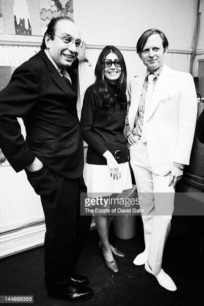 From left Celebrated graphic designer Milton Glaser author and activist Gloria Steinem and author and journalist Tom Wolfe pose for a portrait at a...