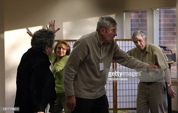From left Charleen Alper Connie McGrath Paul Alper and Michael Jacobs take part in a dance class customized for people with Parkinson's and their...