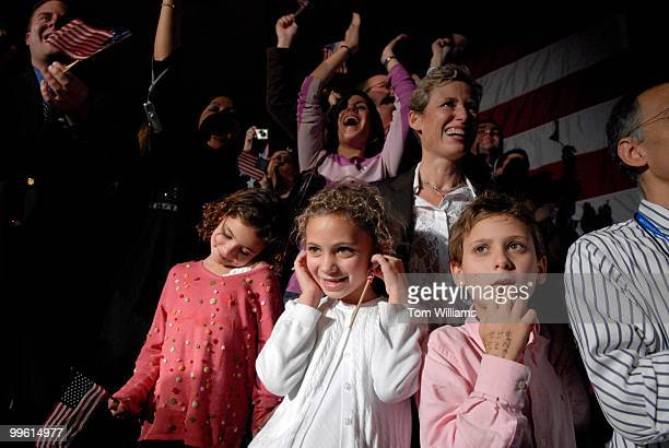 From left children of Rep Rahm Emanuel DIll Leah Ilana and Zach take in the event the DCCC party at the Hyatt Regency on New Jersey Ave