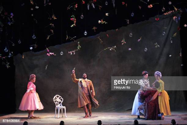 From left Christine Taylor Price Joshua Blue Tamara Banjesevic Charles Sy and Kathryn Henry in Mozart's La finta giardiniera by the Juilliard School...
