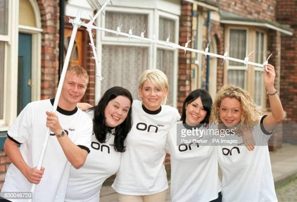 From left, Coronation Street's Ashley Peake , Emmerdale's Mandy Dingle , Eastenders' Cindy Beale , Emmerdale's Kelley Windsor and Coronation Street...