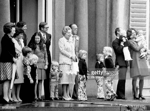 From left Crown Princess Beatrix and her husband Prince Claus with their three sons Prince WillemAlexander Prince Friso and Prince Constantijn...